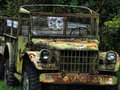Old Army Jeep Stock Image