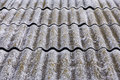 Old fiber asbestos home roof Royalty Free Stock Photo