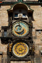 Old astronomical clock in Prague Royalty Free Stock Image