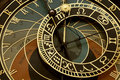Old astronomical clock in Prague Royalty Free Stock Images