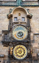 Old astronomical clock prague czech republic europe view of the Royalty Free Stock Images