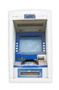 Old atm on white background Royalty Free Stock Image