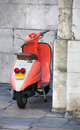 Old attractive Vespa Stock Photo