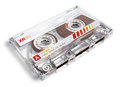 Old audio cassette creative retro electronics music concept transparent on white background Royalty Free Stock Image