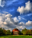 Old auditorium at Tsinghua Unv. Stock Image