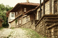 Old authentic Bilgarian house in Architectural-Ethnographic Complex.Bulgaria Royalty Free Stock Photo