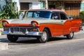 Old automobile in Vedado, Havana, Cuba Royalty Free Stock Photo