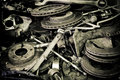 Old automotive parts Royalty Free Stock Image