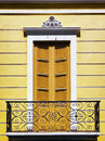 Old balcony beautiful at rome Stock Photography