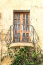 Old Balcony With Door And Windows Royalty Free Stock Photo
