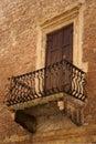 Old balcony in Verona Royalty Free Stock Image