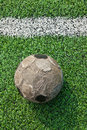 Old ball on new ground Royalty Free Stock Images