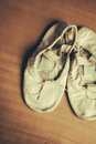 Old ballet shoes a worn out pair of children s Royalty Free Stock Images