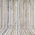 Old bamboo fence ,background Royalty Free Stock Photo