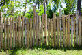 Old bamboo fence in a tropical country. Texture background Royalty Free Stock Photo