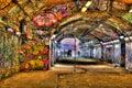 Banksy Graffiti Tunnel Royalty Free Stock Photo