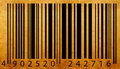 Old bar code label Stock Images