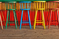 Old Bar Stools Royalty Free Stock Photo