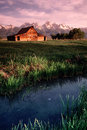 Old Barn Antelope Flats Grand Tetons Wyoming Verti Royalty Free Stock Photo