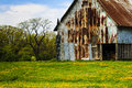 Old Barn With Dandelions Royalty Free Stock Photo