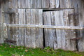 Old barn doors close up of wooden on a or other farm building Royalty Free Stock Image