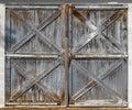 Old barn double doors Royalty Free Stock Photo