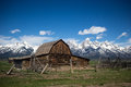 classic moulton barn and grand teton mountains