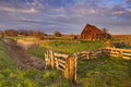 Old barn on the island of Texel, The Netherlands Royalty Free Stock Photo