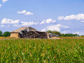 Old barn in the middle Stock Photography