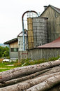 Old barn with silo Stock Photos