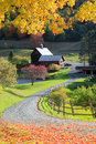 Old barn in Vermont rural side Royalty Free Stock Photo