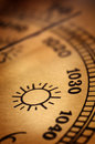 Old barometer Royalty Free Stock Photography