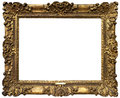 Old baroque gold frame antique isolated on white background Royalty Free Stock Photography