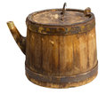 Old barrel isolated clipping path included Stock Photo