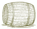 Old barrel pen and ink style illustration of an Stock Photos