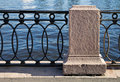 Old barrier on the Neva Rive Royalty Free Stock Image