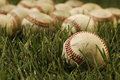 Old Baseballs Royalty Free Stock Images