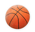 Old basket ball isolate in white Royalty Free Stock Photography