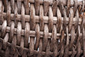Old basket detail of coarse gray vines Royalty Free Stock Photos