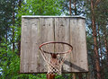 Old basketball backboard Royalty Free Stock Images