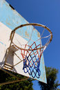 An old basketball backboard in a park Royalty Free Stock Images