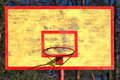 Old basketball backboard and ring Royalty Free Stock Photos