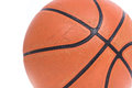 Old basketball basket ball isolate Royalty Free Stock Photo