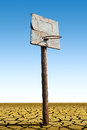 An old basketball hoop Royalty Free Stock Photo