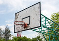 Old basketball hoop Royalty Free Stock Photo