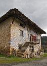 Old basque farm house facade Stock Image