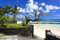 Old beach entrance in Mauritius island Royalty Free Stock Photos