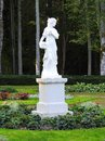 White woman sculpture in park, Lithuania Royalty Free Stock Photo