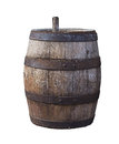 Old beer barrel Royalty Free Stock Photo