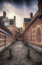 Old belgium abby medieval countryard in antwerpen Royalty Free Stock Photo